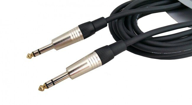 WT 6.3mm stereo - 6.3mm stereo 1m