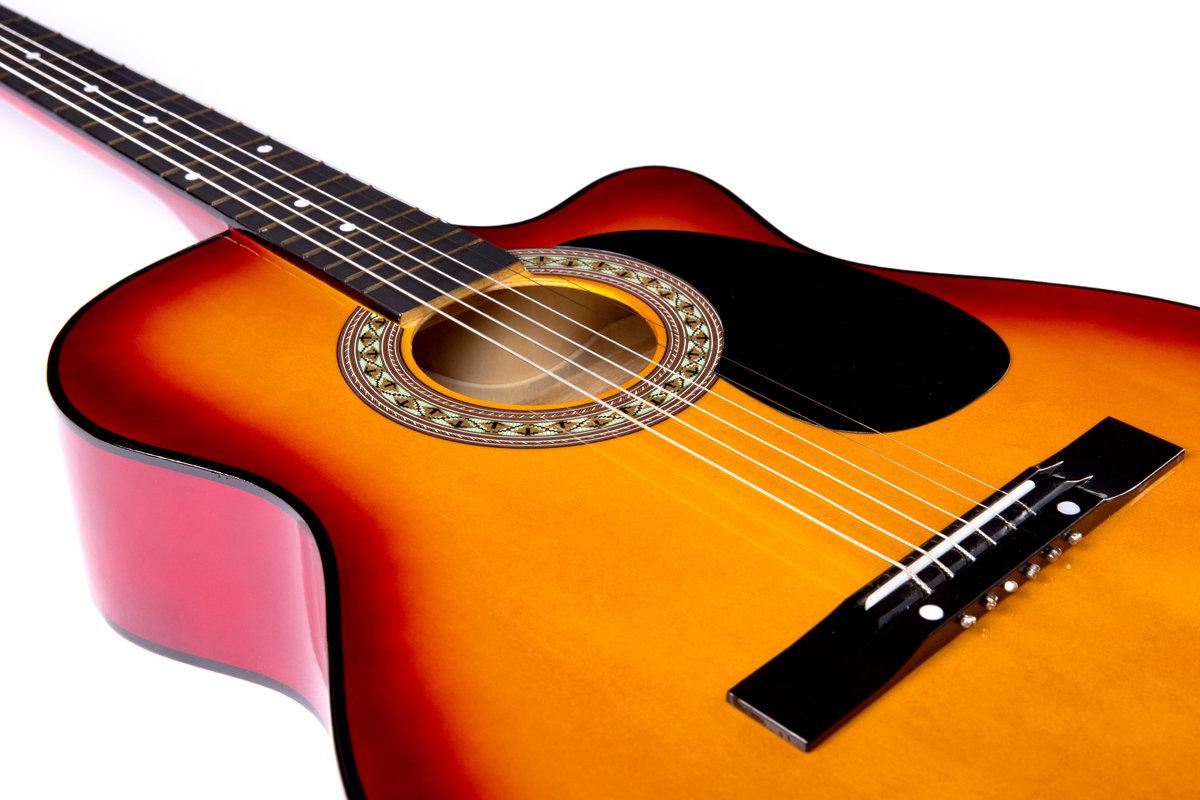 Akustiskā ģitāra A-10 Brūna