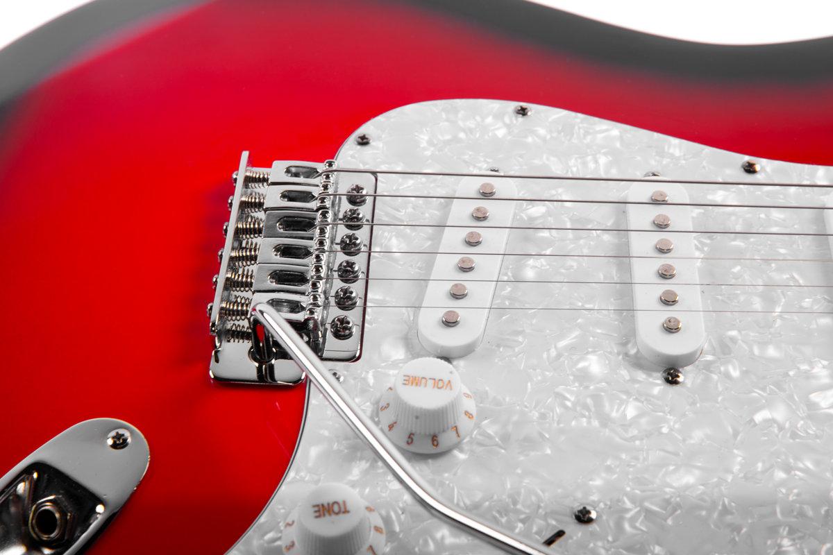 Preston ģitāras komplekts ST-10 Sarkans