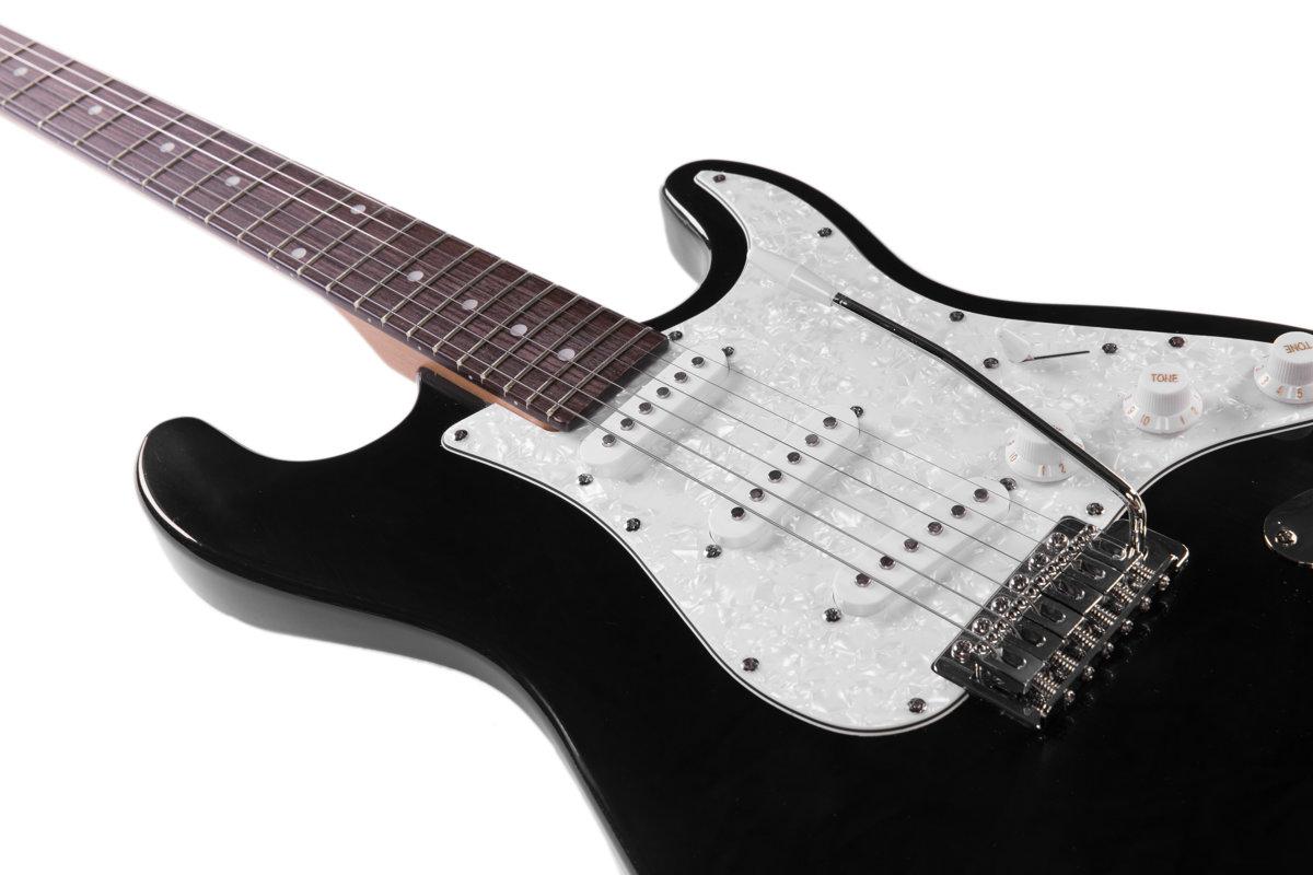 Preston ģitāras komplekts ST-10 Melns