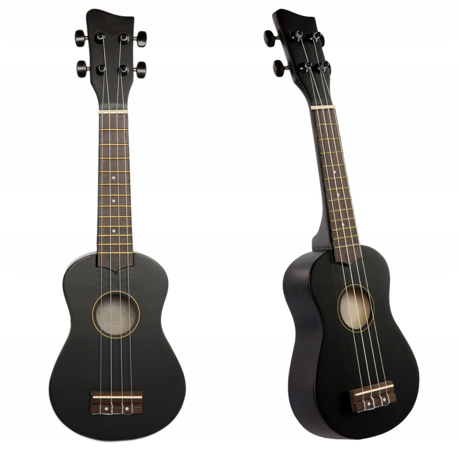 Jasmin U3 Melnas ukuleles komplekts