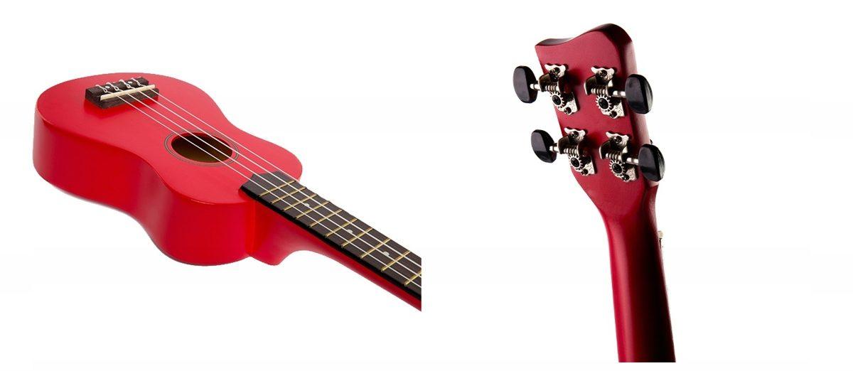 Jasmin U3 Sarkanas ukuleles komplekts